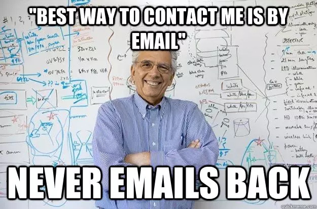 I WILL actually e-mail you if you contact me... most likely...
